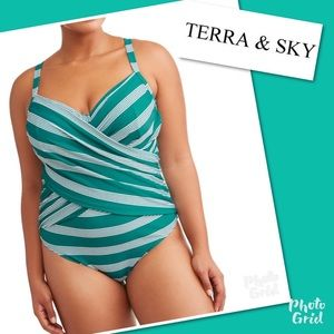 NWT Terra & Sky Bathing Suit plus size 4X